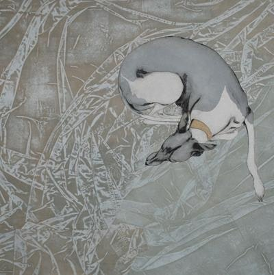Whippet and Drapery
