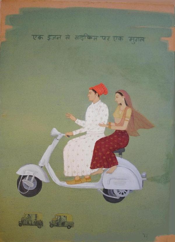 Mughal on a Vespa