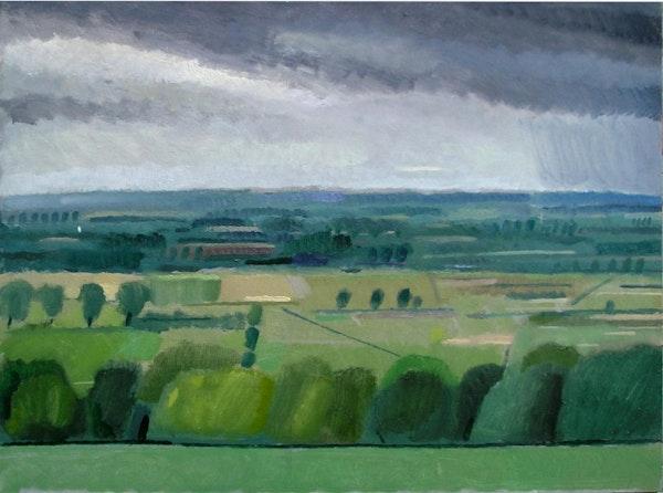 Otmoor from Beckley Hill