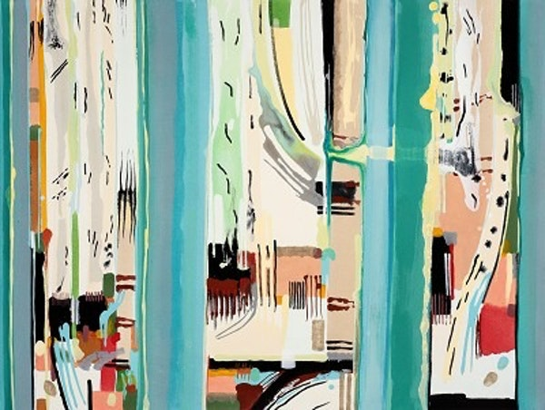 Birch Copse 2016<br />Acrylic on canvas<br />90 x 120 cm<br />&pound;3950