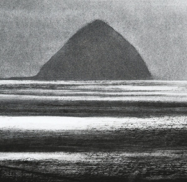 Ailsa Craig from Kildonan (detail)